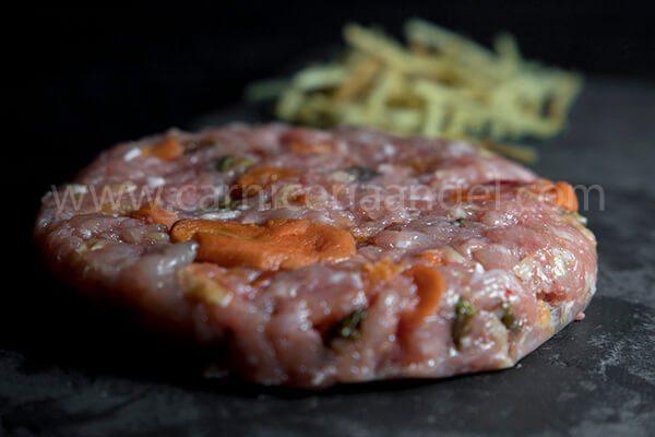 Receta de hamburguesa de pollo con verduras